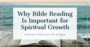 Why Bible Reading is Important text overlay on Bible by the ocean image