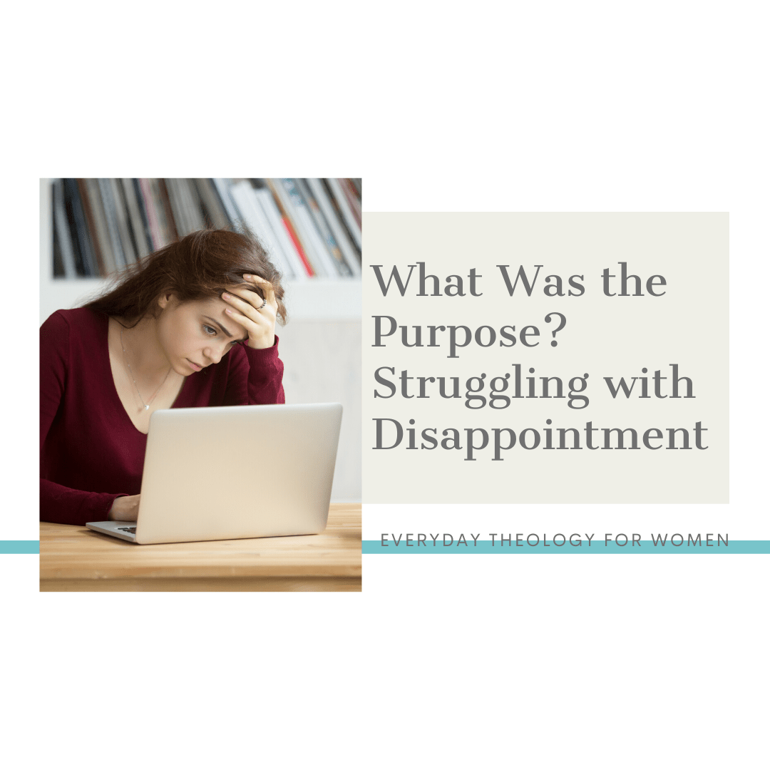 What Was the Purpose? Struggling with Disappointment