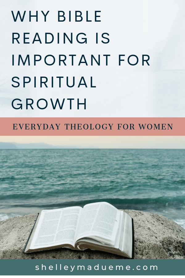 Title: Why Bible Reading Is Important for Spiritual Growth; image Bible beside the ocean