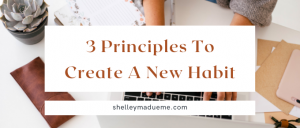 If you're wanting to create a new habit, check out this post before you start: 3 principles to create a new habit.