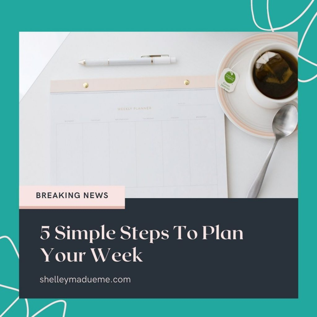 Struggling to keep your head above water when it comes to getting things done? A weekly planning practice can help. No, it's not foolproof, but it's easier to adjust a plan than live without one. Learn how to create a weekly plan in this post: 5 Simple Steps To Plan Your Week